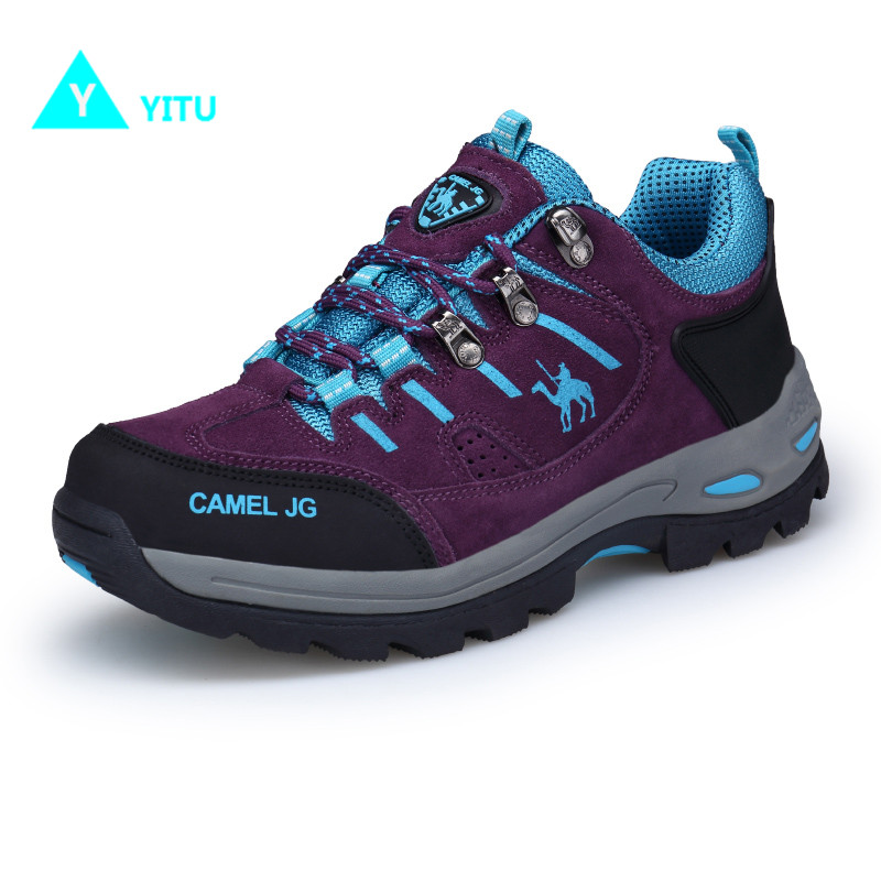 YITU Spring Women Hiking Shoes Outdoor Sports Camel Shoes Big Size Breathable Women Sneakers Mountain Climbing Ankle Boots