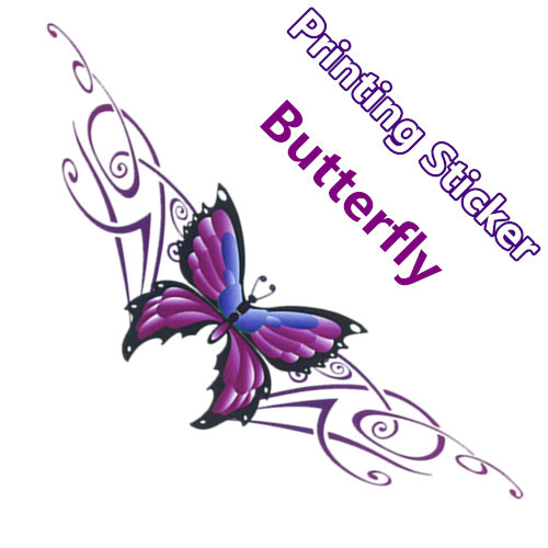 Car Stickers Butterfly Beautiful Purple Colorful Printing Creative Decals Auto Tuning Styling 41*12cm D15