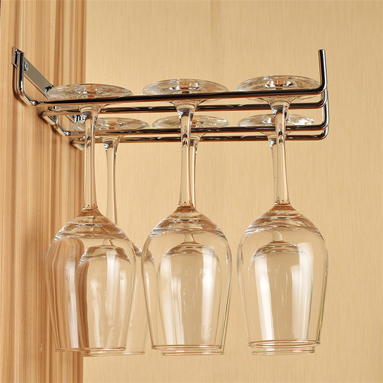 Hanging Wine Glass Rack Stainless Steel Wine Glass Holder