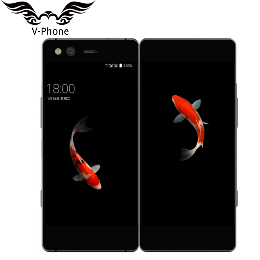 Original ZTE AXON M Folding screen Dual Screen 5.2 inch Mobile Phone MSM8996 Pro Quad core Android 20MP Fingerprint Cellphone