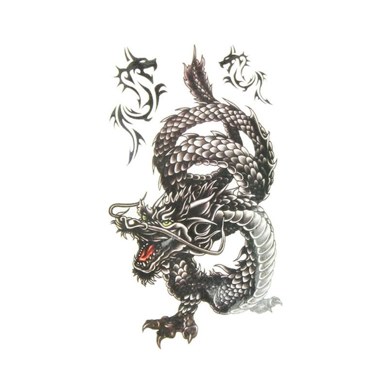 10*20.5cm Creative design Watercolor Dragon Temporary Tattoos for Men And Women Hand Tatoo Sticker Body Art  10.19