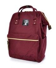 2018 حقيبة المدرسة أنيلو الموضة الجديدة ، وأعلى أكياس تغليف الطباعة قماش ، المرأة حقيبة ظهر بعلامة تجارية ملونة