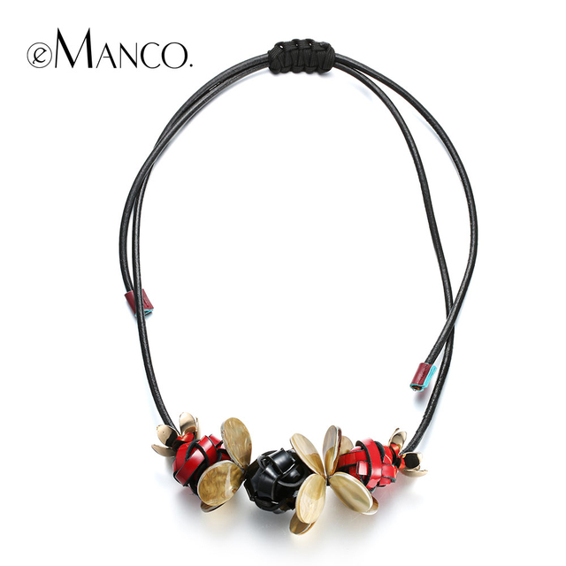 Emanco black necklace leather cord handmade knit necklace small emanco black necklace leather cord handmade knit necklace small pendant necklace resin jewelry costume jewelry necklace mozeypictures Images