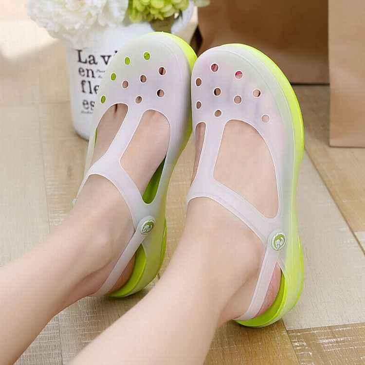 e699caafa7b54b ... 2018 Slip on Casual Garden Clogs Waterproof Shoes Women Classic Nursing  EVA Clogs Hospital Women Work ...