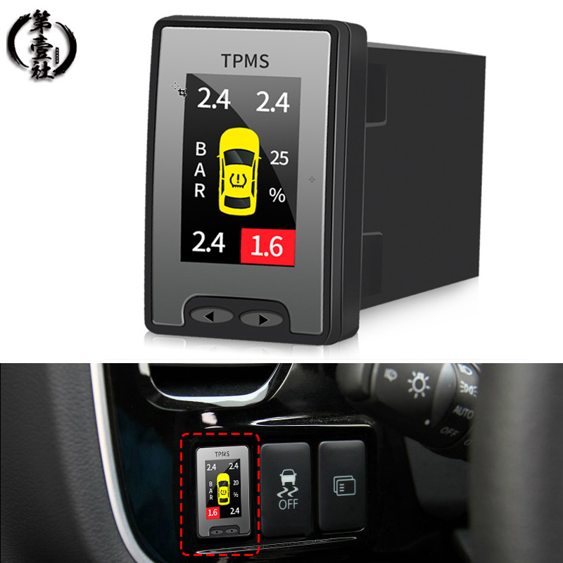 Car Wheels Tires Parts LCD Display OBD Tire Pressure Monitoring System OBD TPMS For Toyota CHR