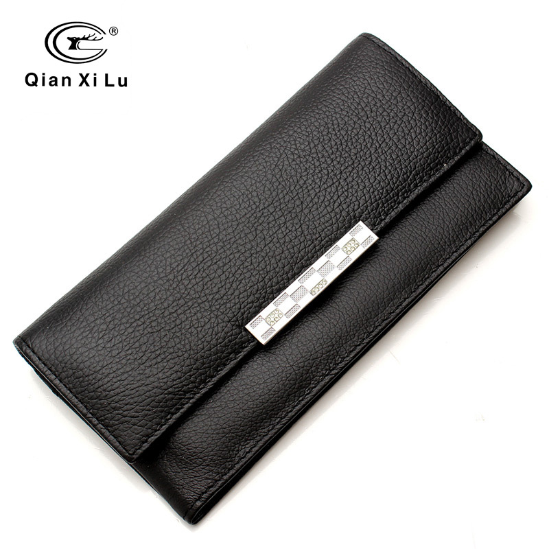 Leather Long Wallet Women Clutch Female Wallets Credit Card Holder Solid Fashion Luxury Brand Design Money Purse Ladies 2017 new long wallets small money bag women credit card holder fashion hasp solid female brand leather purse coin pocket ladies