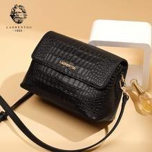 купить LAORENTOU Brand Ladies' Natural Leather Vintage Shoulder Bag New Arrivals Valentine's Day Gift Women Alligator Crossbody Bag по цене 3629.79 рублей
