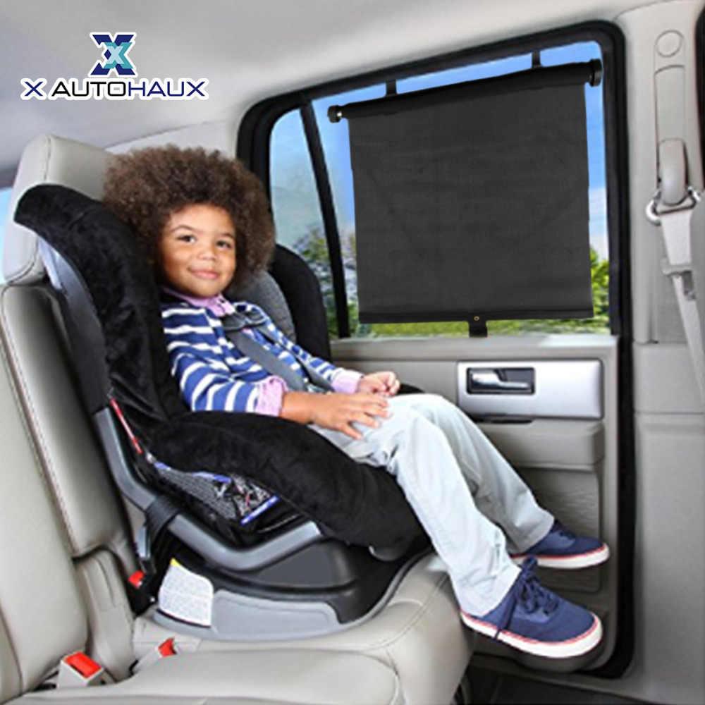 X Autohaux 2 Chiếc Đa Năng Ô Tô Xe Bên Cửa Sổ Chống Nắng Và Con Lăn Mù Tấm Bảo Vệ Màn Hình Cho Bé Kid Tấm Che Chống Ngăn Chặn Tia UV đề Nghị Áo Chống Nắng