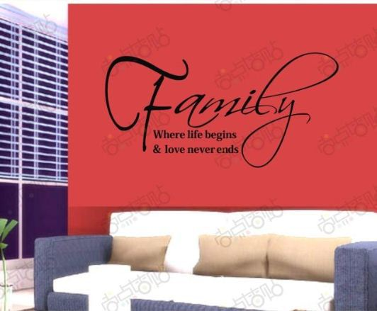 Holiday Sale Family Life Love Removable Vinyl Wall Art