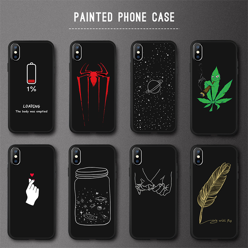 Silicone Patterned Soft TPU <font><b>Case</b></font> for <font><b>iPhone</b></font> 7 <font><b>6s</b></font> X 8 6 Plus 11 pro Max Love <font><b>Heart</b></font> Printed Cover for <font><b>iPhone</b></font> XR XS Max 5S SE 5 11 image