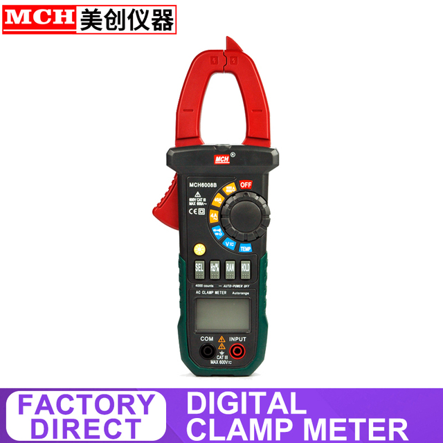 Digital Clamp Meter DC AC 600V 600A Diode test Factory Direct MCH-6008B Power Clamp Meter