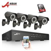 ANRAN 4CH 48V NVR CCTV System POE Onvif 1080P HD H 264 Waterproof Varifocal 2 8