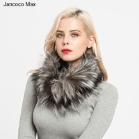 Jancoco Max 2019 New Real Fox Fur Scarves Winter Thick Warm Top Quality Shawl Natural Fur Muffler S7120