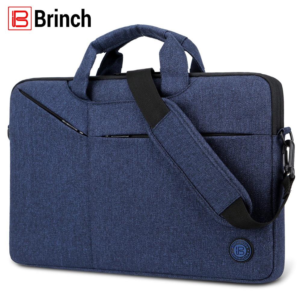 BRINCH Fashion Women Men Laptop Bag Waterproof Notebook Messenger Bags Casual Handbag For 15.6 inch Laptop Notebook Computer
