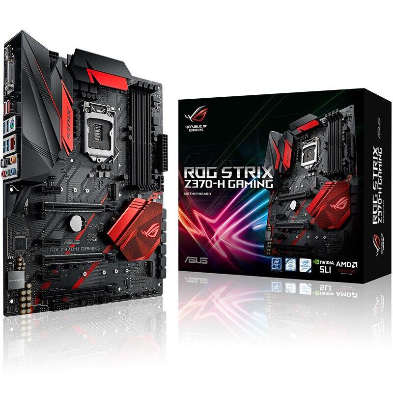 ASUS ROG STRIX Z370H Intel Z370 LGA1151 scheda Madre di GIOCO SLI Crossfire di Sonic Radar Per PUBG Per Intel 8th Processore LED ROG