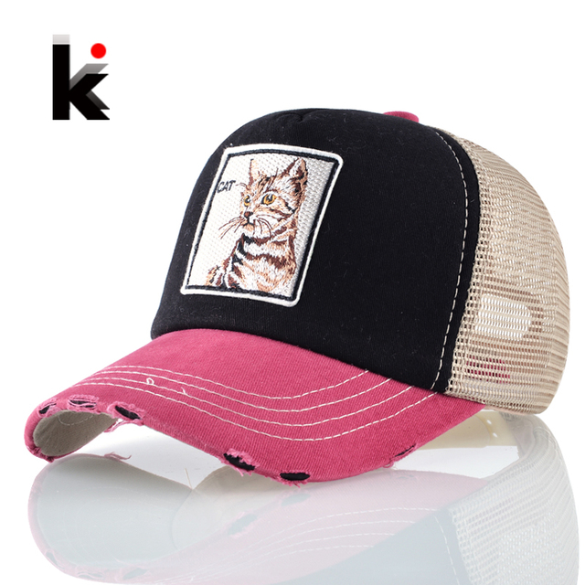 La cena Unisex fresco Hip Hop sombreros gato parche gato Snapback gorra de  béisbol de los 97db6d70a9b