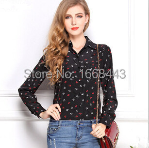 Black Silk Blouse Womens