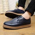 2015 Men casual shoes fashion flats Topsider Oxfords New Autumn PU leather platform shoes Men lace up dress shoes Free Shipping
