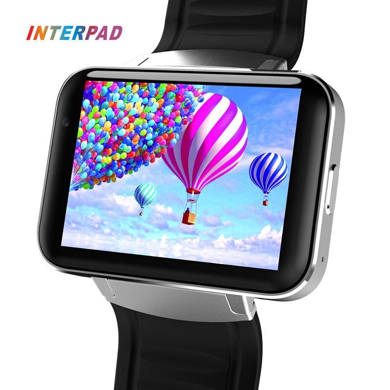 Interpad DM98 Smart Watch Big Screen 2.2 inch IPS HD Huge 900mAh Battery Android Phone Clock Support GPS WIFI SIM Smartwatch