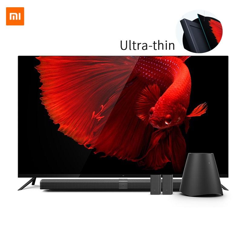 Origine Xiao mi mi TV 4 65 Cm Smart TV Anglais Interface Réel 4 k HDR Ultra Mince Télévision 3D Dolby Atmosphère WiFi/BLE Connecter