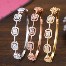 GODKI Frühling Trendy Luxus Stapelbar Erklärung Armband Für Frauen Hochzeit Voller Cubic Zirkon Kristall CZ Dubai Armbänder 2019