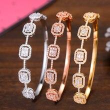 GODKI Spring Trendy Luxury Stackable Statement Bangle For Women Wedding Full Cubic Zircon Crystal CZ Dubai Bracelets 2019