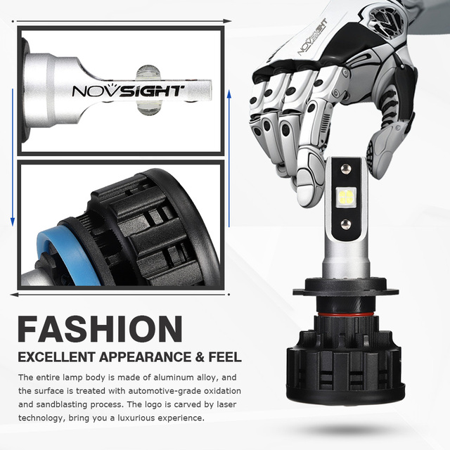 NOVSIGHT H4 H7 H11 H1 H3 9005 9006 Car LED Headlight Bulbs Hi-Lo Beam 60W 18000LM 6500K Auto Headlamp Fog Light Bulb DC12v 24