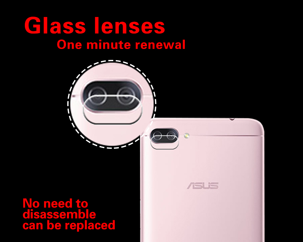 Anti-Explosion & Shatter Back Camera Lens Tempered Glass Film For Asus Zenfone 4 Max ZC520KL Camera Protector Guard Film +Tools
