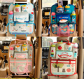 Cute Cartoon Car Organizer Back Seat Multi Pocket Storage Box Bag Hanging Insulation Holder Mummy Bags for Kids Children