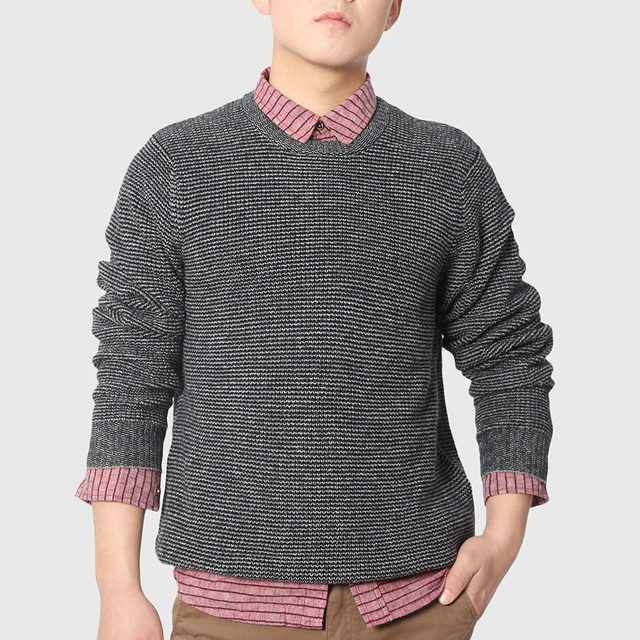 Men Cable Knitted Sweaters Designer Gentleman Pullovers Boys Loose