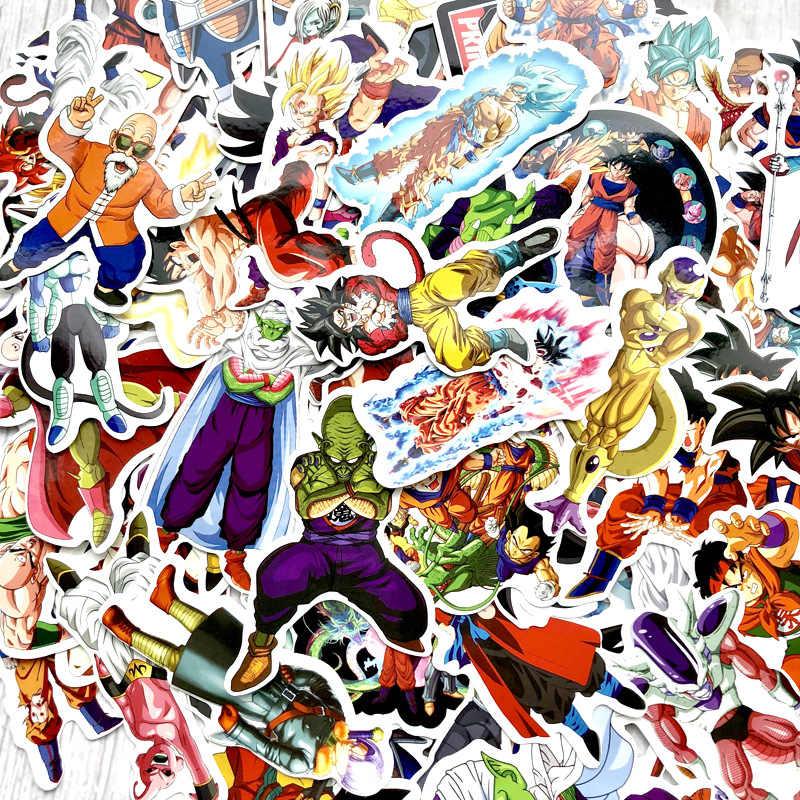 100 шт Водонепроницаемый багажный стикер стрекозы Набор наклеек Супер saiyan goku персонаж фигурка ПВХ наклейка детская вечеринка