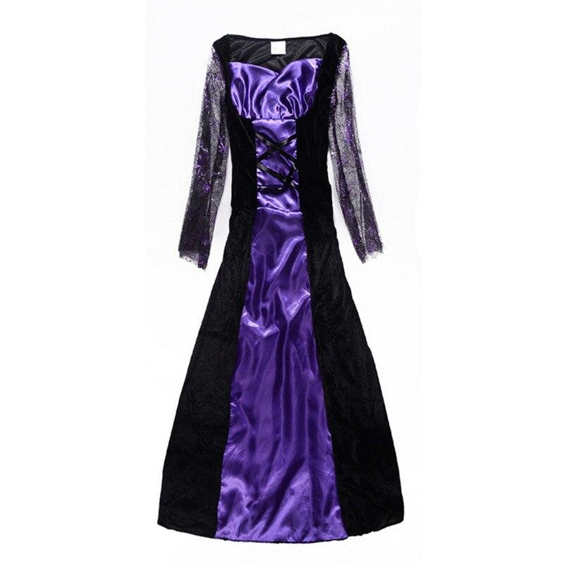 Nuevo lujo púrpura vestido de bruja Navidad carnaval ropa infantil ...