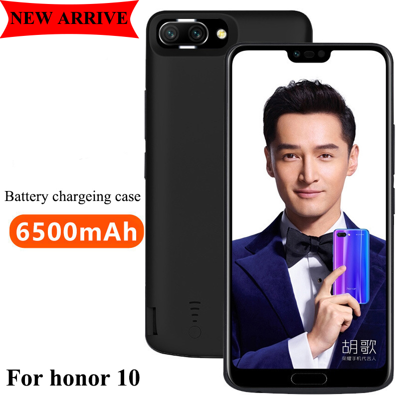 6500 mah Battery charging phone case Portable fast charger funda protector for huawei honor 10 smart Power bank external battery