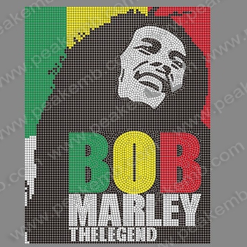 T Shirts Bob Marley Rhinestone Iron On Transfers Heat