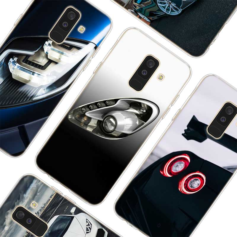 A8 A8 Frugal Transparent Soft Silicone Phone Cases Sport Car Lamp For Samsung Galaxy A6 A6 A7 A5 A3 Plus 2018 2016 2017 Latest Fashion