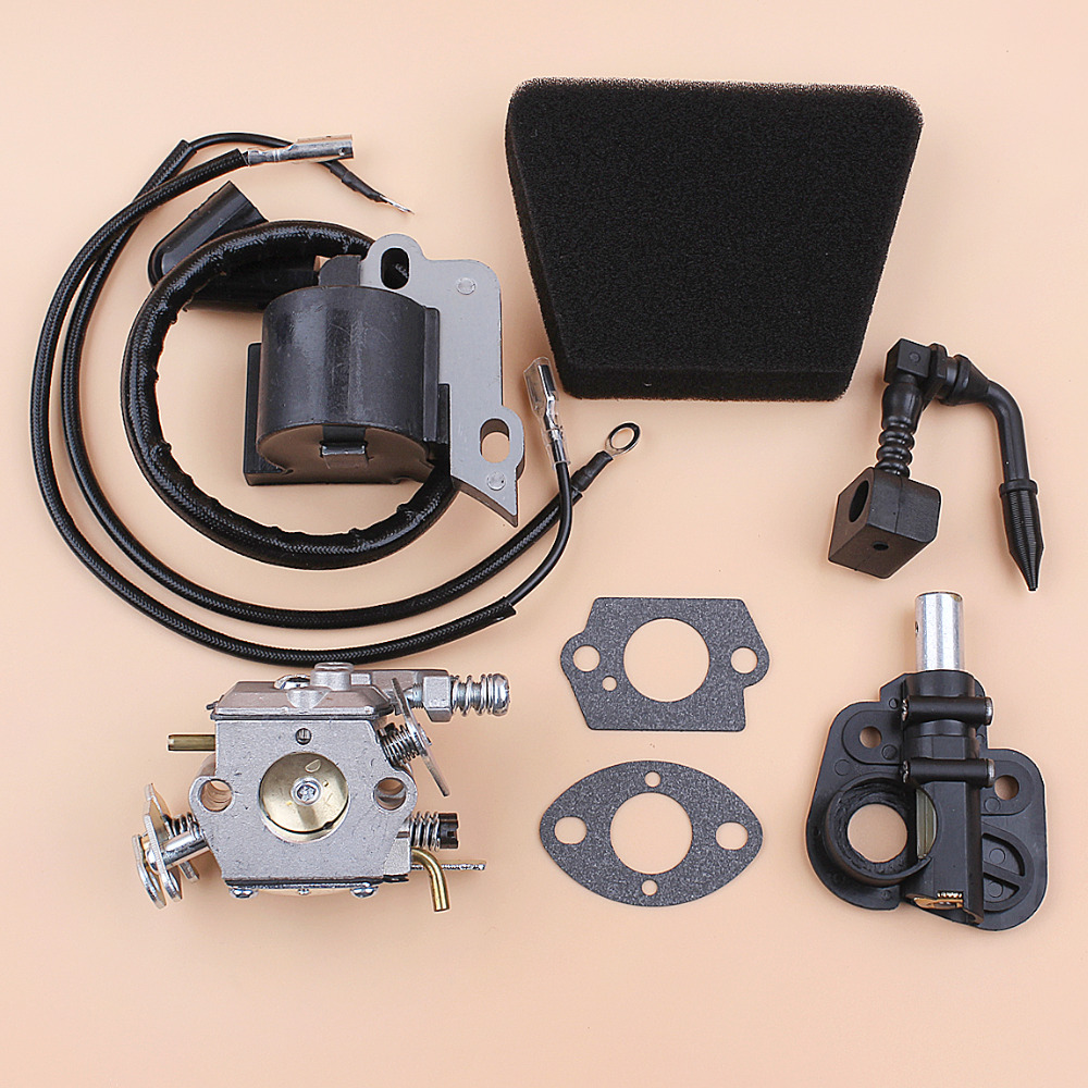 carburetor ignition coil oil pump kit for partner 350 351 370 371 390 420 mcculloch mac 335 435 436 440 441 chainsaw parts [ 1000 x 1000 Pixel ]