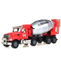 KDW-volqueta mezcladora de tapa dura para niños, coche de ingeniería americano 1:50, aleación fundida, modelo de juguete de Metal, colección para niños, regalos, Juguetes