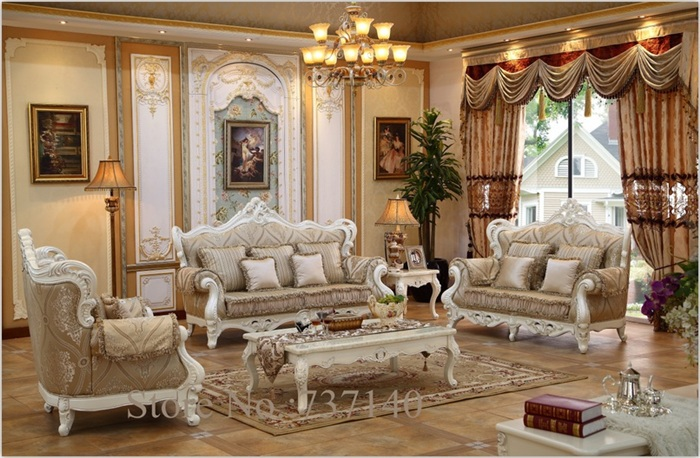sofa set living room furniture sectional sofa genuine leather sofa set  luxury wood carved wholesale price - Popular Luxury Living Room Furniture Sets-Buy Cheap Luxury Living