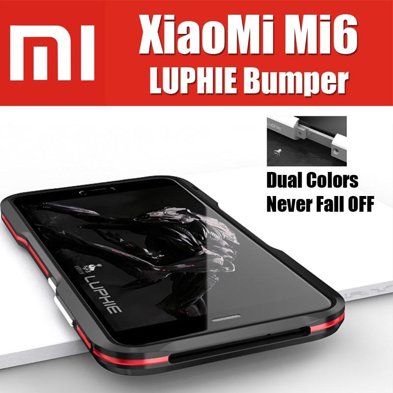 """Цена за Xiaomi mi6 бампер оригинальный luphie бренд супер окисления авиационного алюминия металлические кнопки рамка для xiaomi mi6 mi 6 case 5.15"""""""
