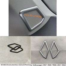 Для Volkswagen VW T-ROC ТРОК 2017 2018 автомобиля стикер столбец аудио говорить Обложка окно лобового стекла со стороны обрезки выходе вентиляционной 2 шт.