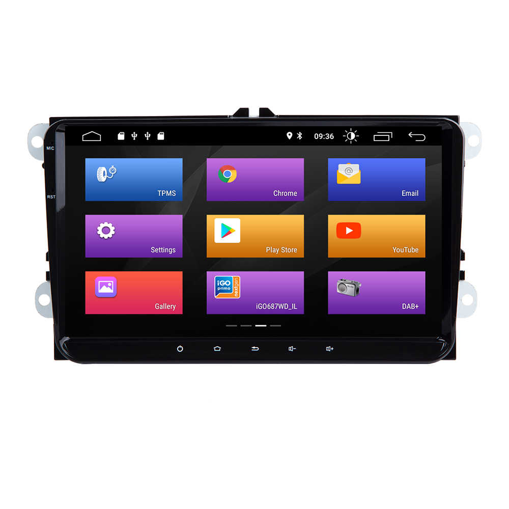 Josmlie AutoRadio 2din Android 9,0 coche Multimedia para VW Passat B6 CC Amarok Volkswagen Skoda Octavia 2 superb Seat Leon Golf 5