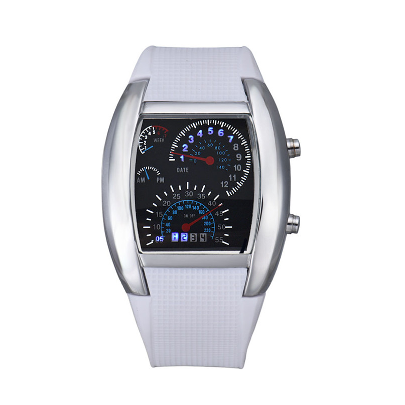 Watch Women Clock Fashion Aviation Turbo Dial Flash LED Wrist Watch Gift Mens Lady Sports Car Meter Hot Sale Leisurely Gift C/4 стоимость