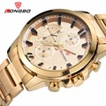 Longbo estilo de negocios los hombres de acero inoxidable relojes de cuarzo hombres reloj de pulsera deportivo impermeable reloj de los hombres relogio masculino reloj