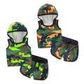Spring summer clothing new camouflage suit baby boys and girls children's hooded sleeveless T-shirt + casual shorts pants set