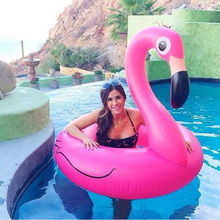 Rooxin 120cm Flamingo Inflatable Swimming Ring for Pool Adult Baby Float Swim Circle Toys Beach Party Supply