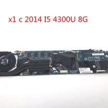 Новая материнская плата для ноутбука lenovo для Thinkpad X1 Carbon I5-4300U 8 Гб материнская плата 00HN767 12298-2 48.4ly06021 DDR3