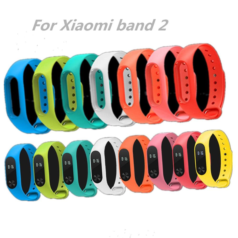 Xiaomi Mi Band 2 צמיד סיליקון רצועות סיליקון צבע כפול החלפת watchband עבור Xiaomi הלהקה 2 wristbands 12 צבע xiaomi 2