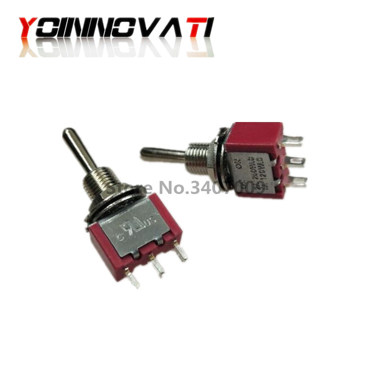 MTS 123 Momentary Toggle Switch 6MM ON OFF ON 3A 250VAC 6A 125VAC 3PIN SPDT 3