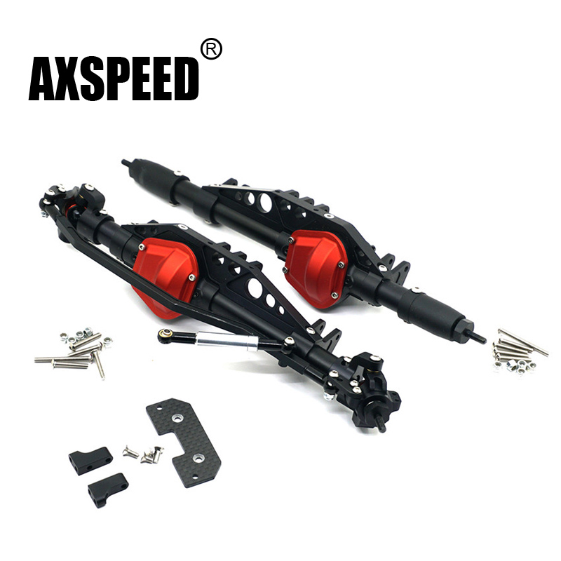 1/10 RC Cars AXIAL Wraith Rock Crawler Complete Alloy Front /Rear Axle Assembly Parts Upgraded For 90018 90048 90053