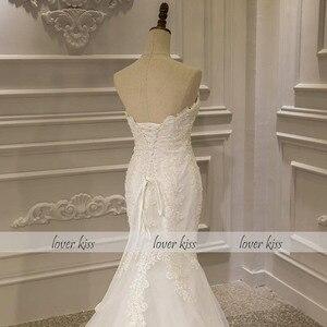 Image 4 - נשיקת מאהב Vestido דה Noiva בת ים שמלות כלה 2020 תחרה עד סטרפלס חרוזים כלה חתונת כותנות Robe De Mariage סירנה